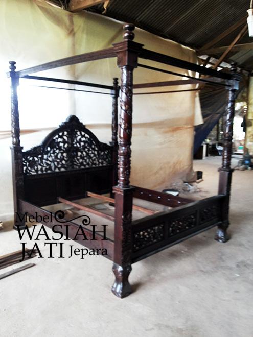 Tempat Tidur Knockdown Toko Mebel Wasiah Jati Jepara