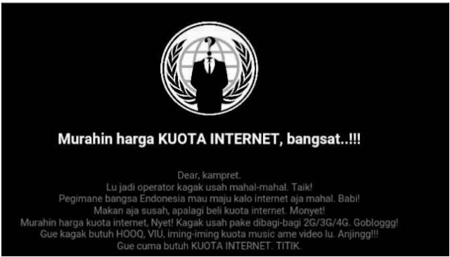 pesan hacket untuk Telkomsel