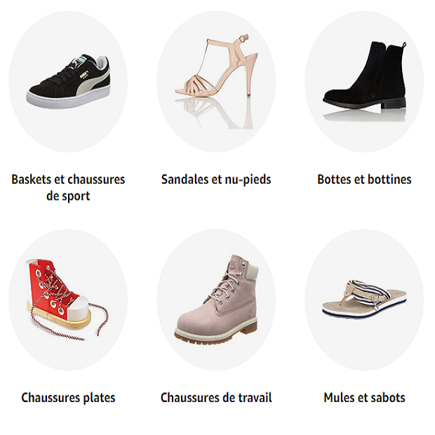CHAUSSURES ET SACS : Amazon.fr - Toutes les marques à la mode - LIVRAISON et RETOUR GRATUITS sans minimum d'achat. Plus de 700 MARQUES de chaussures et sacs : Converse, Vans, Clarks, Dr Martens, Birkenstock, Desigual... Toutes les nouveautés Chaussures et sacs sont sur Amazon.fr (voir conditions sur le site)