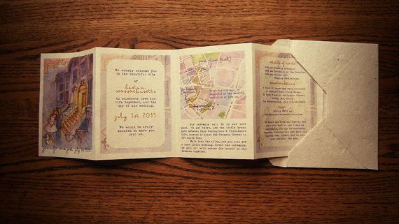Storybook Wedding Invitation: Something Old, Something New: June 2011