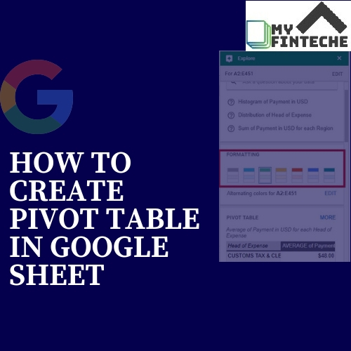 How to Create Pivot Table in Google Sheet
