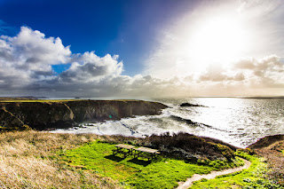 Caerfai Beach Pembrokeshire Coastal Path Wales