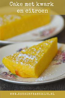 Cake met citroen en kwark