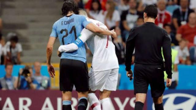 Aksi Terpuji Ronaldo Tolong Bomber Uruguay 'Pembunuh' Portugal