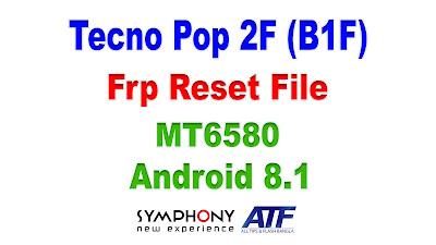 Tecno Pop 2F (B1F) Frp Reset File
