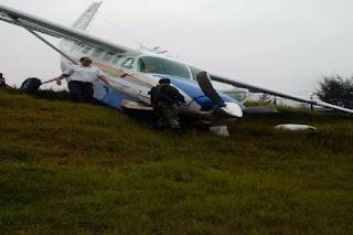 Innalilahi Dilaporkan Pesawat Pemkab Mimika Mengalami Kecelakaan di Ilaga - Commando