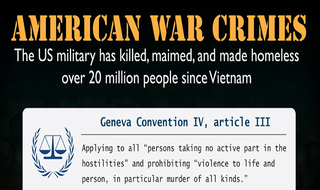 CRIMES OF AMERICAN WAR #INFOGRAPHIC