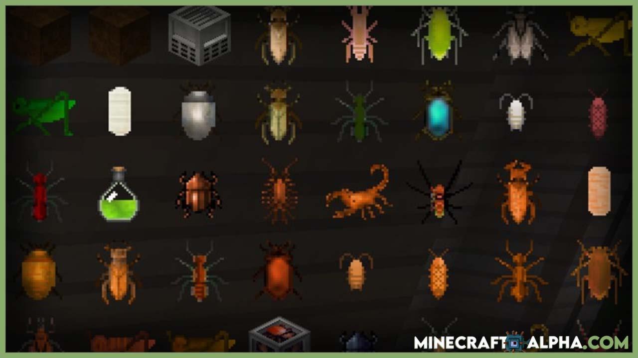 Minecraft Edible Bugs Mod 1.17.1 (Giant Evil Bugs)