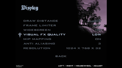 Pengaturan Minimum Display, Video, Grafik GTA San Andreas