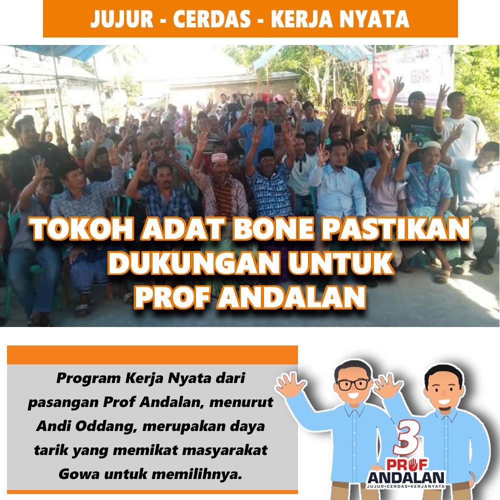 Tokoh Adat Bone Pastikan Dukungan Untuk Prof Andalan