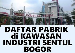 daftar perusahaan di kawasan industri Sentul