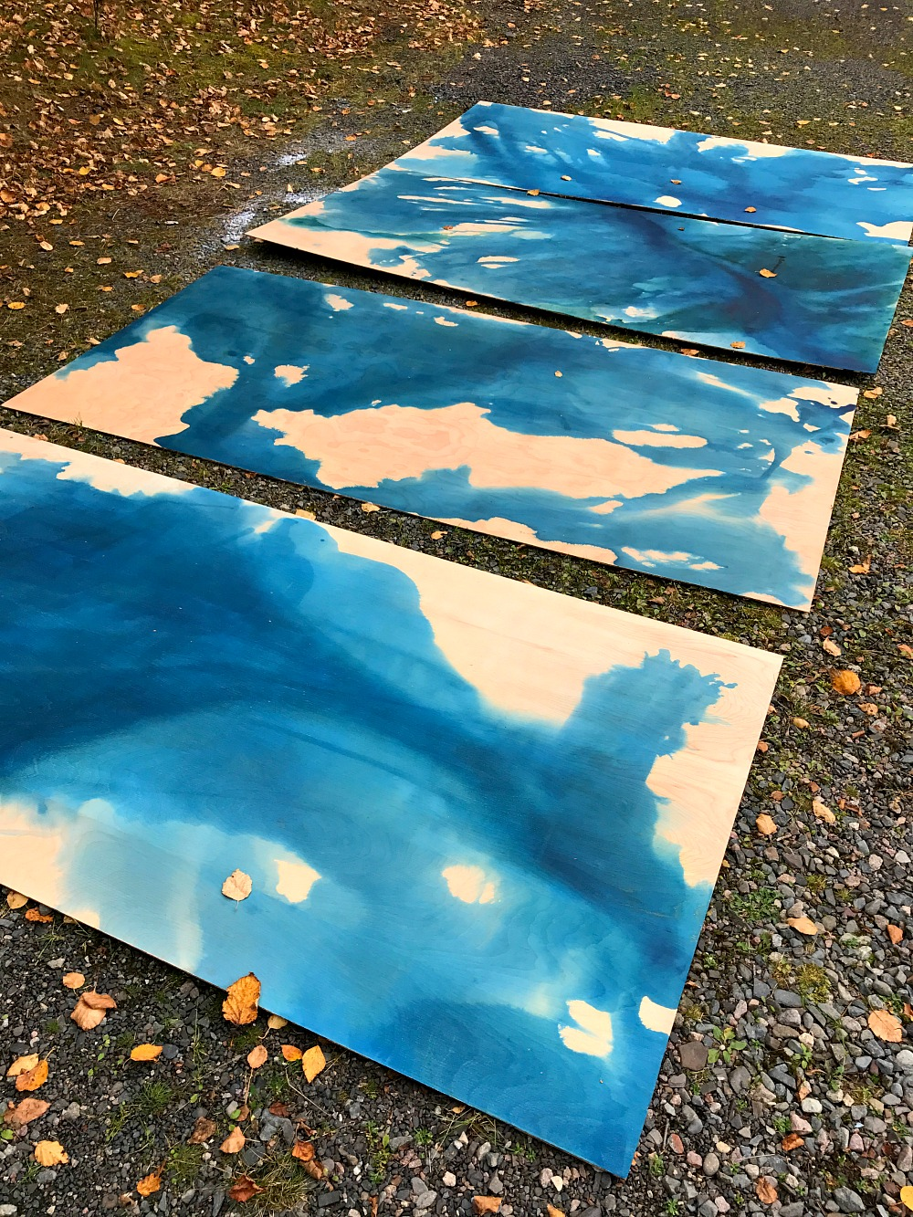 DIY Water Color Stained Plywood - Wood Aquarelle Inspired
