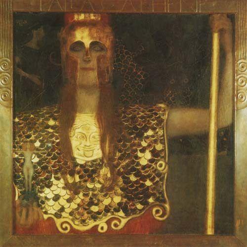 Pallas Athina  Gustav Klimt