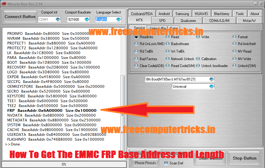 How To Get The EMMC FRP Base Address and Length [HEX] - Free