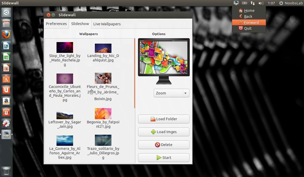 SlideWall Live Wallpaper Utility Untuk Ubuntu 13.04/12.10
