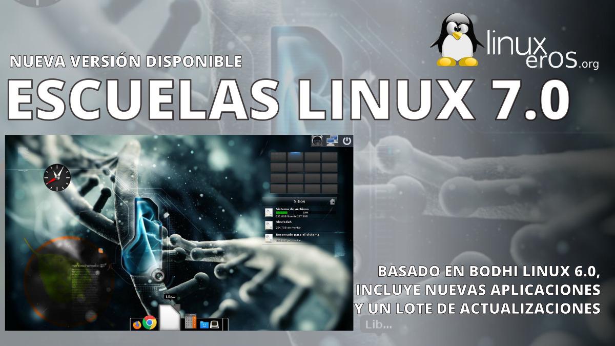 Escuelas Linux 7.0, ahora basado en Bodhi Linux 6.0