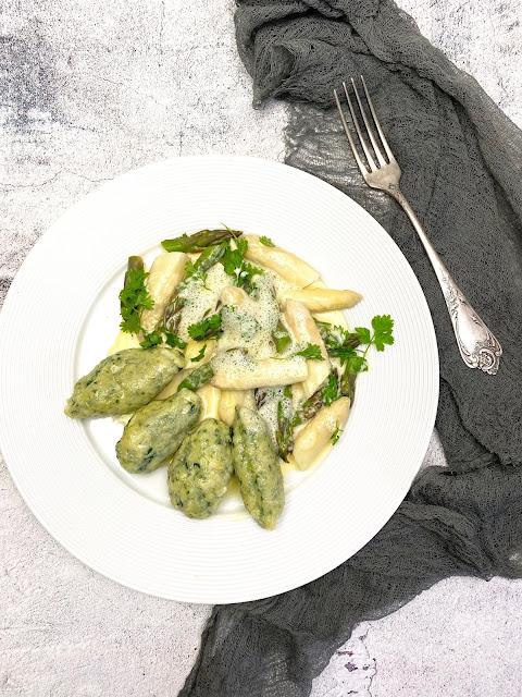 Italienische Malfatti mit Spinat