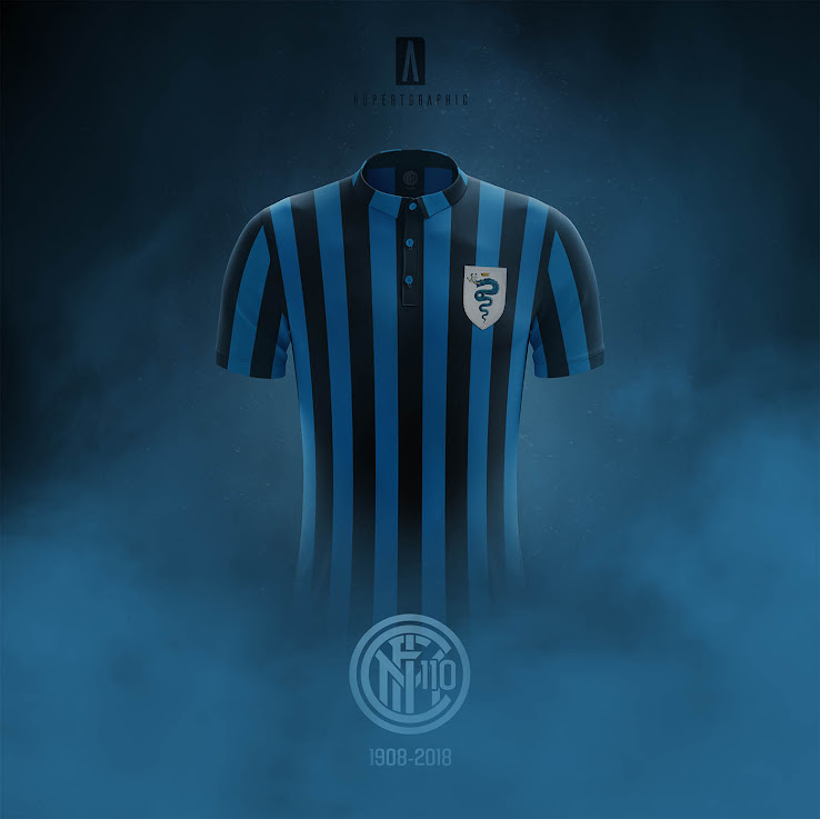 online store c453e d2a5d Inter Milan 110-Years Anniversary Vintage Kit by ...