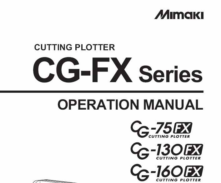 Mimaki CG-130FX Service Manual - Download Service Manual