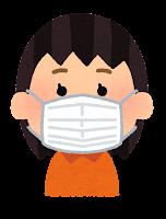 マスクを付けた人のイラスト(女の子)
