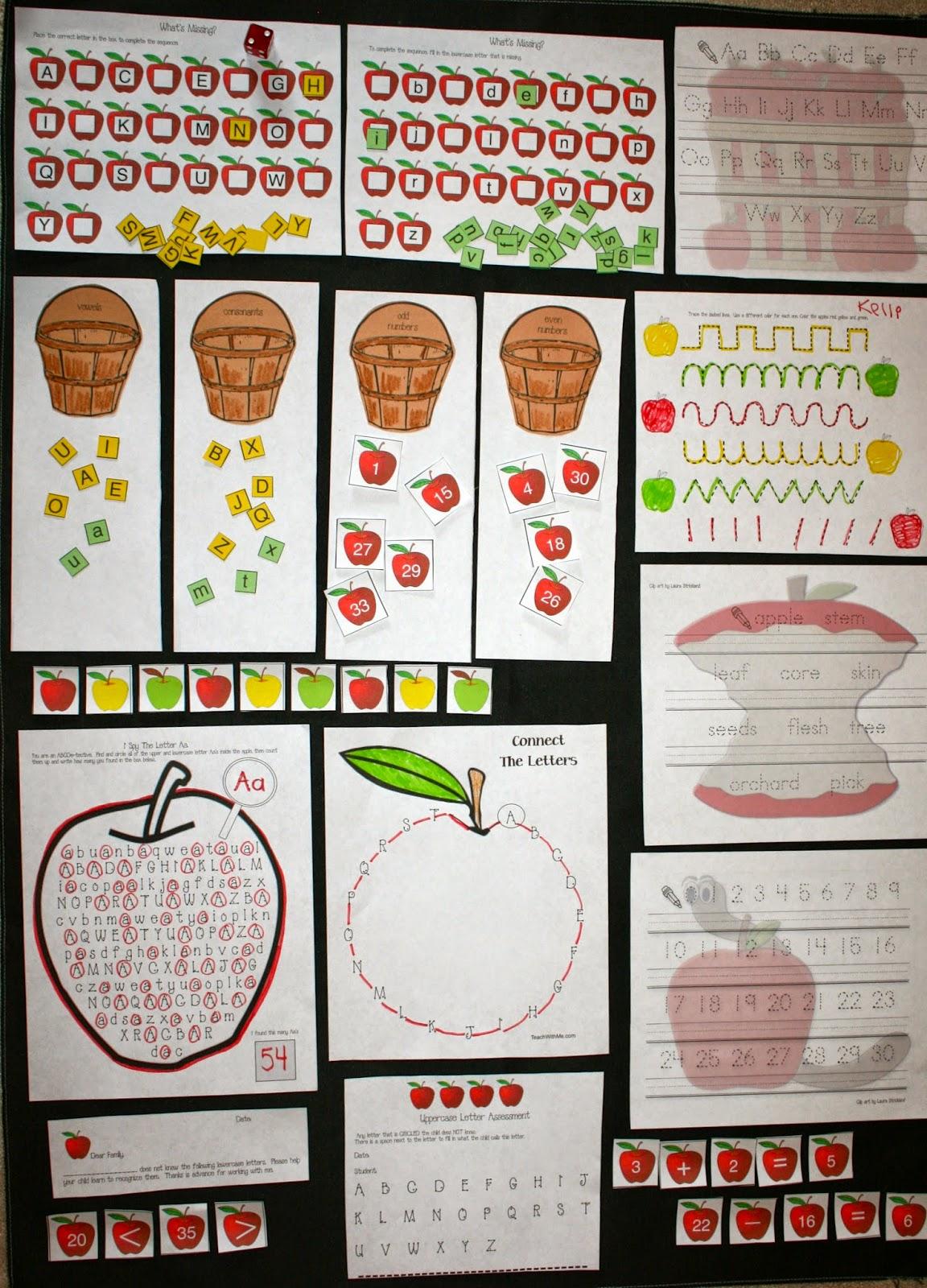 Classroom Freebies Apple Activities