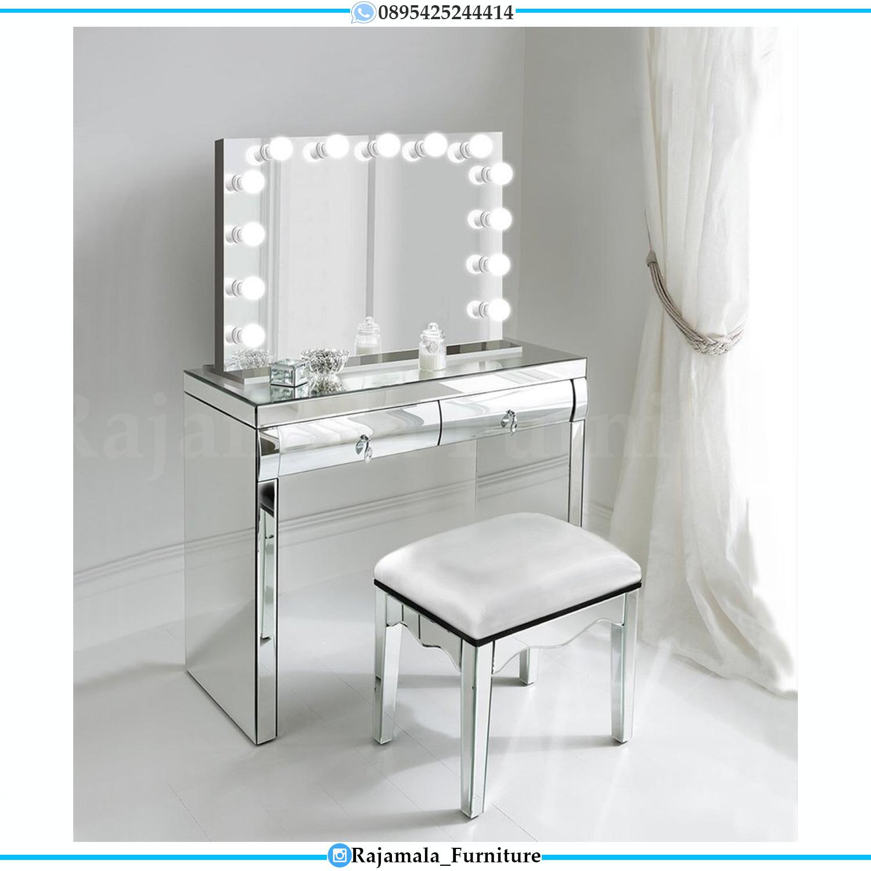New Meja Rias Jepara Elegant Luxury Desain Full Kaca RM-0164