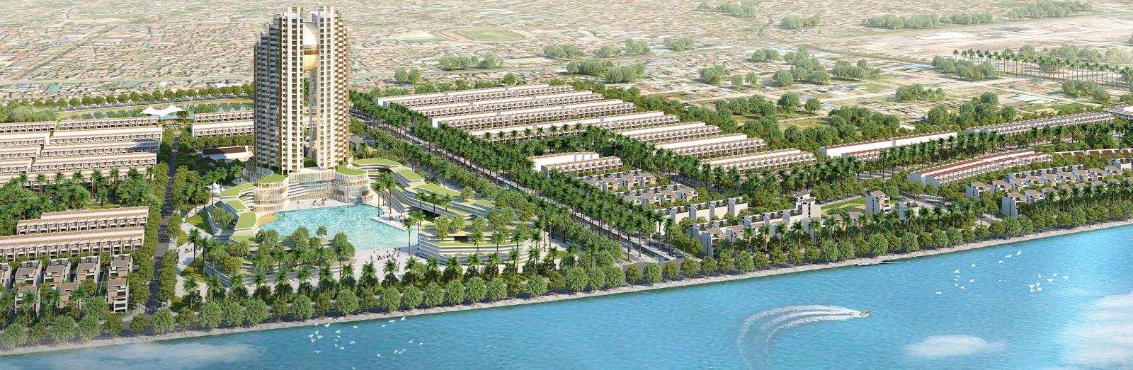 Phối cảnh dự án Green Dragon City Cẩm Phả