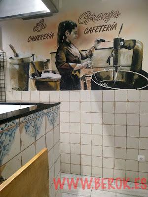 Mural La churrería La granja cafetería