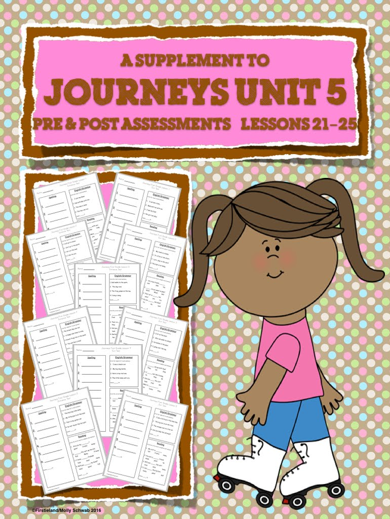 Journeys Pre & Post Assessments Unit 5