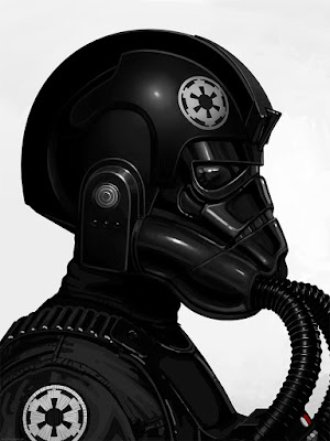 Star Wars Tie Fighter Pilot Portrait Print by Mike Mitchell x Mondo
