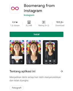 Aplikasi Boomerang from Instagram