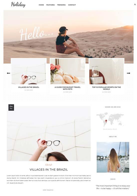 Blogger Tema-Holiday