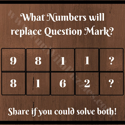 In this Math Brain Teaser, your challenge is to find the missing number which will replace the question mark