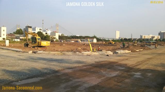Từ dự án Jamona Golden Silk có view ra cầu Phú Mỹ rất đẹp