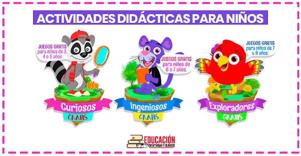 ▷ Juegos didácticos para niños de preescolar y primaria GRATIS