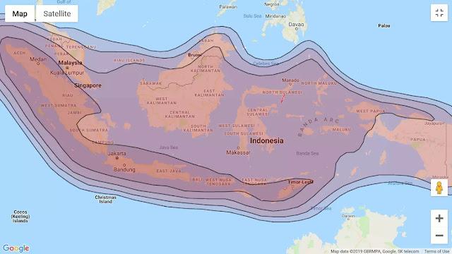 jangkauan beam JCSAT 4B Ku-band SEAsia