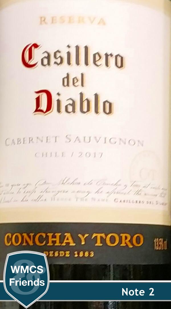 Concha Y Torro Cassilero del Diablo Cabernet Sauvignon Reserva Chile 2017