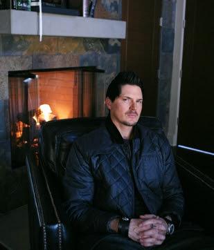 Zak Bagans sitting inside his house