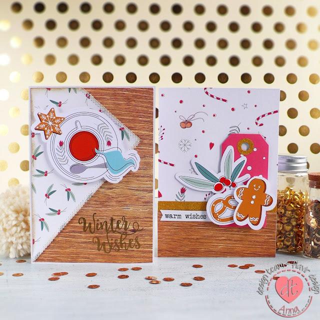 Card di Buon Natale con i materiali scrap