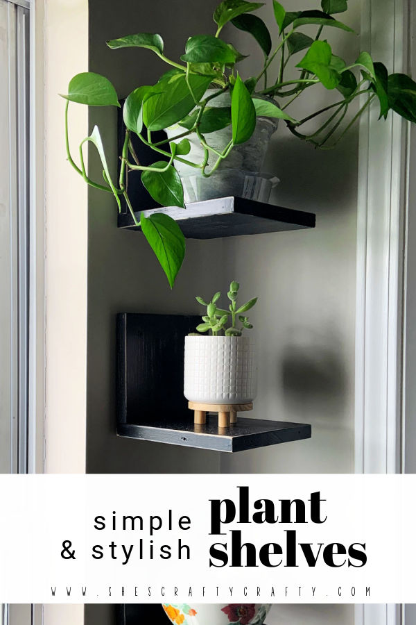 Simple Plant Shelves