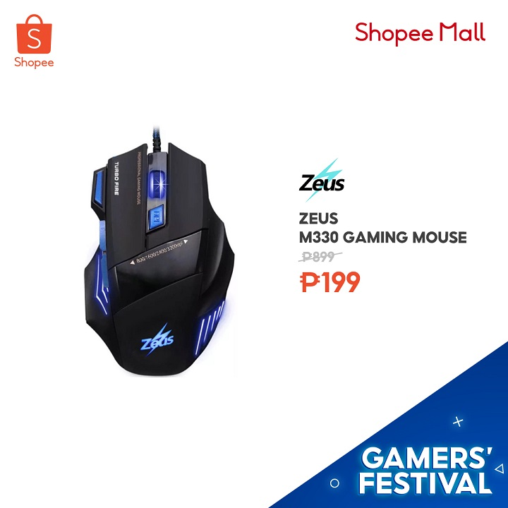Smooth gaming experience with Zeus M330 Gaming Mouse