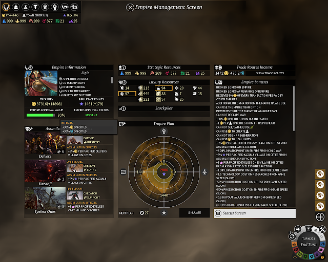 The Empire Screen | Endless Legend Game Screenshot