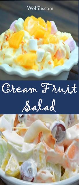 Cream Fruit Salad Recipe #Salad #Fruit #Healthy