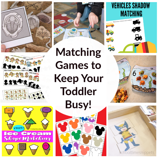 free matching game printables for toddlers