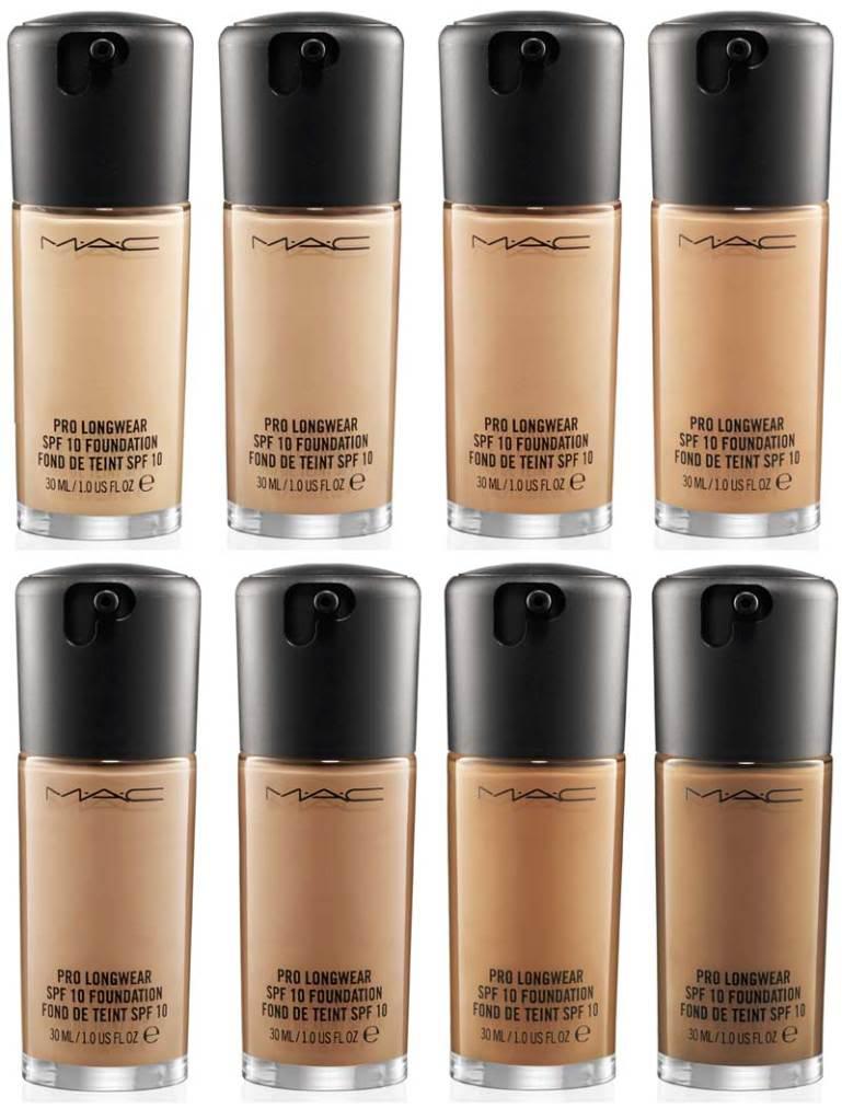 Pro Foundation Mixers By Nyx Professional Makeup: Au Bonheur Des Dames: M.A.C. Pro Longwear Foundation E