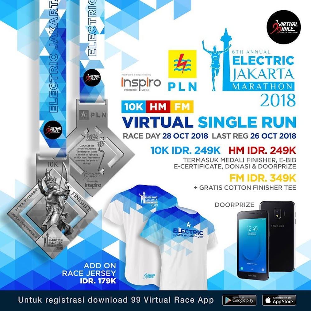 Electric Jakarta Marathon - Virtual Run • 2018