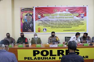 Damaikan Warga yang bertikai, Polres Pelabuhan Makassar gelar Focus Group Discusion