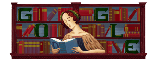 Google-Doodle-Elena-Cornaro Piscopias-373rd-Birthday