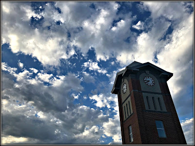 July 9, 2018 Coming out of the library to find a beautiful evening sky.
