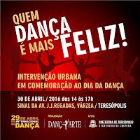 Ação cultural dia 30/04 em Teresópolis pelo Dia Internacional da Dança